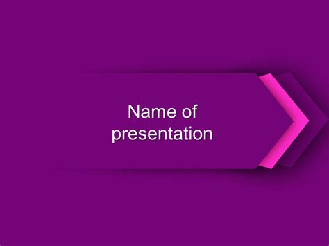 free slide templates free purple direction powerpoint template for presentation
