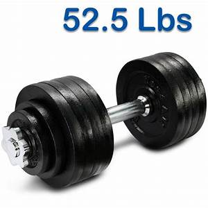 52 5 Lbs Adjustable Dumbbell Set Gym Cap Plate Fitness Hand Weight