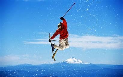 Skiing Winter Sports Wallpapers Jump Ski Snow