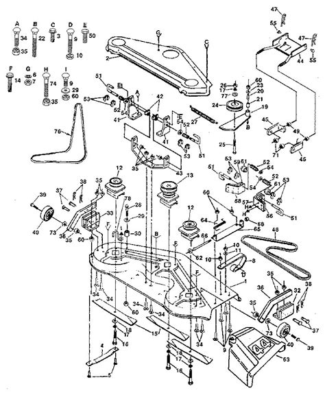 craftsman riding lawn mower deck belt diagram car