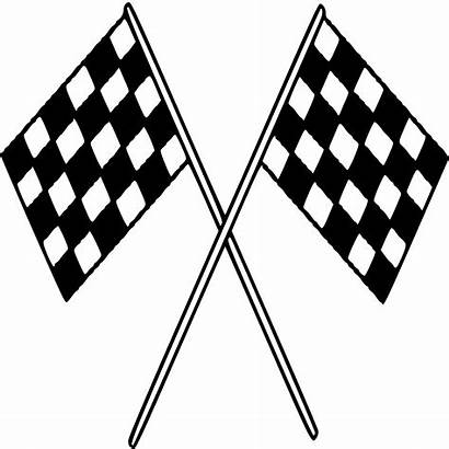 Checkered Flags Race Finish Line Clipart Flag