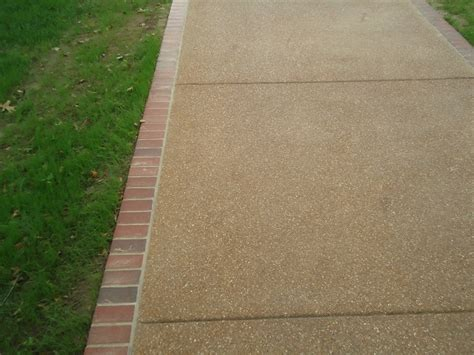 exposed aggregate concrete driveway webster groves mo