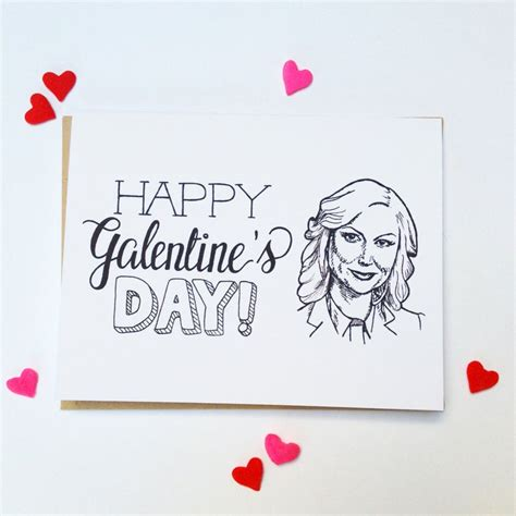 Happy GALENTINES Day Hand Lettered Greeting Card | Etsy