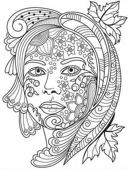 Coloring Pages Adults Faces Fairy Adult App