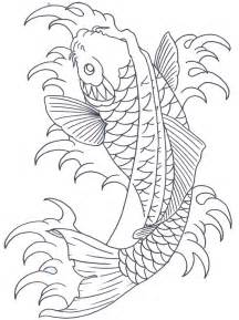 Koi Fish Tattoo Outline Drawings