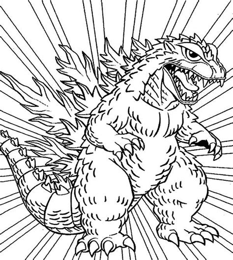 godzilla godzilla coloring pages  kids monster