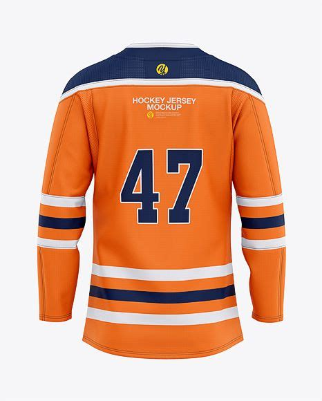 Make professional looking images with all your jersey designs right from your browser! Men's Hockey Jersey Mockup - Back View in Apparel Mockups ...