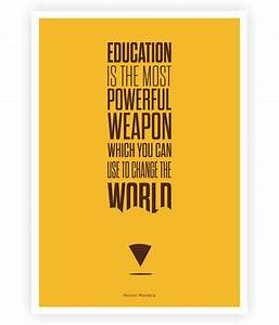 Education Is The Most Powerful Weapon Poster : lab no 4 education is the most powerful weapon nelson mandela inspiratioanl quotes poster buy ~ Markanthonyermac.com Haus und Dekorationen