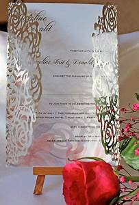 silver mirror roses laser cut wedding invitation cards 4 With laser cut wedding invitations edinburgh
