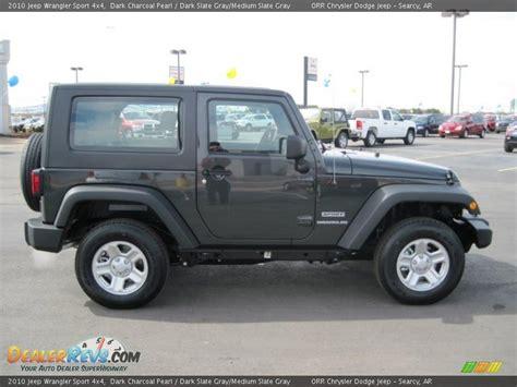 jeep dark gray 2010 jeep wrangler sport 4x4 dark charcoal pearl dark