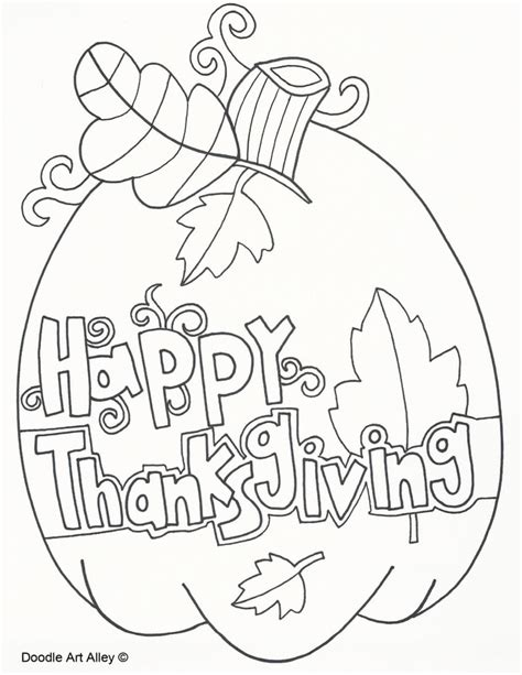 coloring pages for thanksgiving thanksgiving coloring pages doodle alley