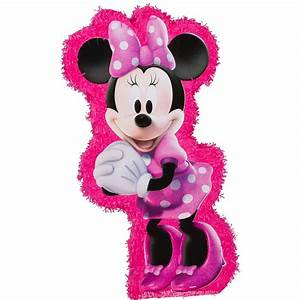 Hot Pink Minnie Mouse Pinata 37in x 19 1/2in | Party City