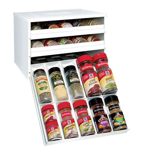 Large Spice Organizer by Three Drawer Spice Organizer Chefs Edition In Spice Racks