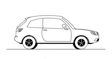 hatchback side view  junior car designer