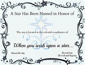crafty confessions name a star certificate freebie With star naming certificate template