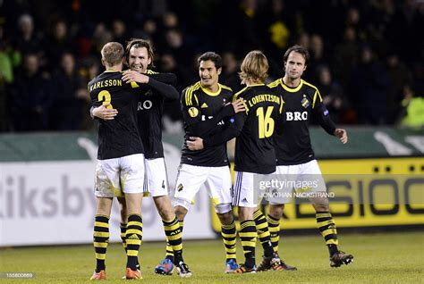 Best football team in sweden, most followers and one of the largest trophy cabinets in the country. AIK Solna players react after the UEFA Europa League football match... News Photo - Getty Images