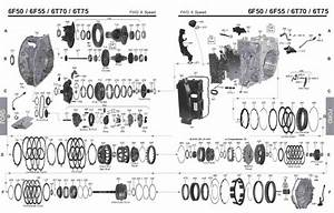 Transmission Repair Manuals Gm 6t75  6f50 6f55 Ford
