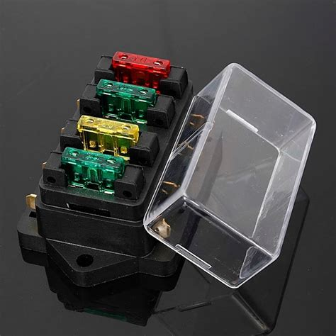 Automotive Fuse Box Replacement by 12 24v Fuse Holder Box 4 Way Car Vehicle Circuit