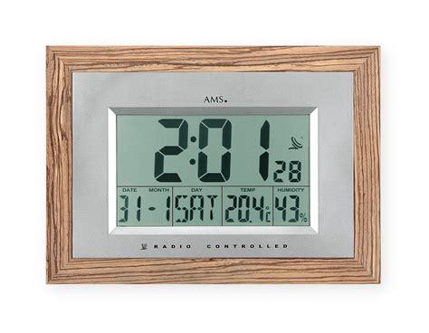 horloge murale digitale radio pilot 233 e woodstyle 1001 pendules