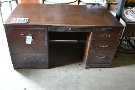 26 inch wide desk lot 59 wood desk 5 drawers and a cabinet 29 1 2 inches