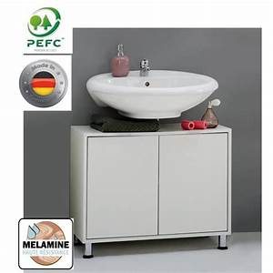 Meuble Sous Vasque 70 Cm : zamora meuble sous vasque l70cm blanc achat vente meuble vasque plan meuble sous vasque ~ Teatrodelosmanantiales.com Idées de Décoration