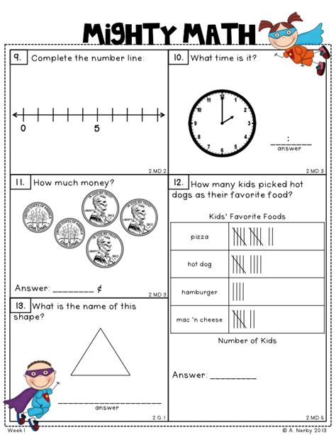 2nd grade assessment test printable - OnlyOneSearch Results