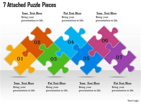 powerpoint puzzle pieces template 2613 business ppt diagram 7 attached puzzle pieces powerpoint template powerpoint slide
