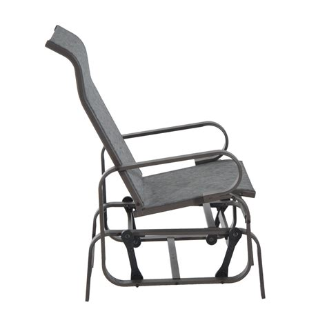 outsunny patio glider chair aosom ca