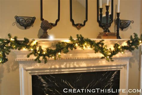 fireplace garlands home tour creating this