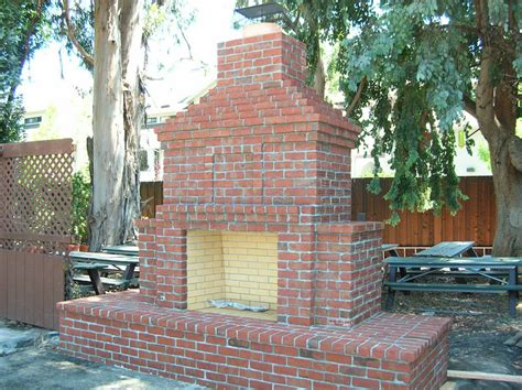 outdoor fireplace brick how to brick a outdoor fireplace fireplaces