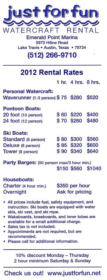 Just For Fun Boat Rentals by Just For Fun Watercraft Rental On Lake Travis Ski Boat
