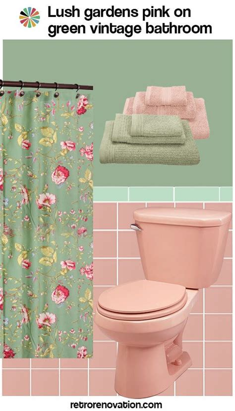 What Color Shower Curtain For A Small Bathroom by 11 Ideas To Decorate A Pink And Green Tile Bathroom