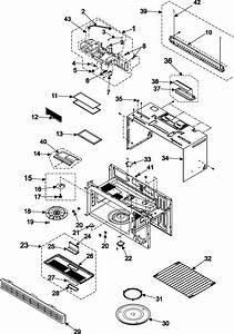 Body  Cavity  Elements Diagram  U0026 Parts List For Model Smh7174bexaa Samsung