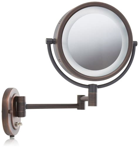 lighted makeup mirror amazon amazon com jerdon hl65bz 8 inch lighted wall mount