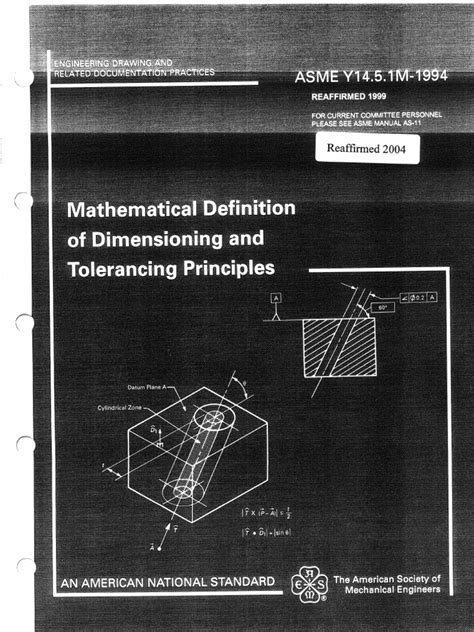 ASME Y 14.5.1M-1994(EN)_2004 | Euclidean Vector | Plane