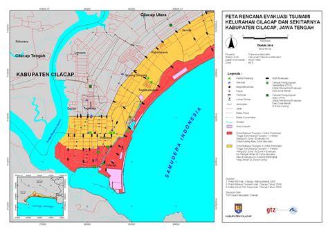 tsunami kit tsunami evacuation map central java cilacap