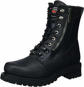 Milwaukee Motorcycle Clothing Company Trooper Leather Menu0026#39;s Motorcycle Boots (Black Size 9EE ...