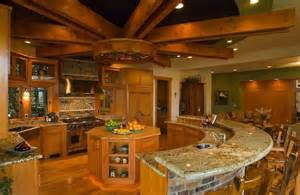 Semi Vaulted Ceiling by Inimitable Two Island Kitchen Design With Curved Kitchen