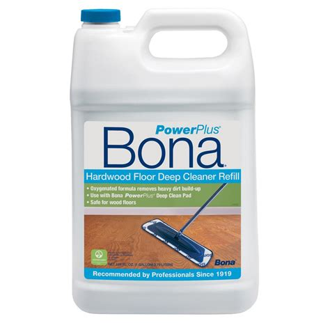 Hardwood Floor Cleaner Bona by Bona 128 Oz Powerplus Clean Hardwood Floor Cleaner