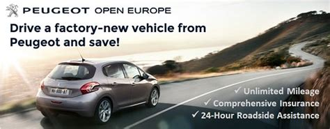 peugeot car lease europe peugeot open europe