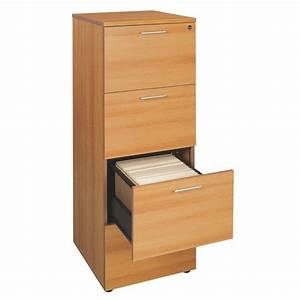 Rangement Tiroir Bois : classeur bois 4 tiroirs pour dossiers suspendus ~ Premium-room.com Idées de Décoration