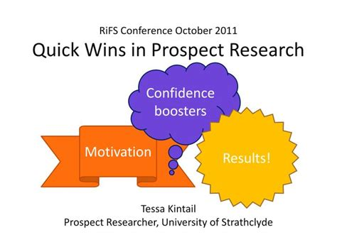 PPT - RiFS Conference October 2011 Quick Wins in Prospect ...