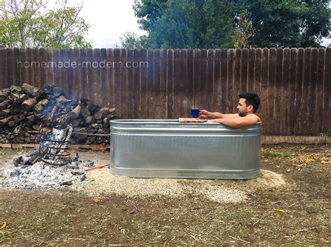 homemade modern ep diy wood fired hot tub