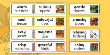 Autumn Adjectives  Autumn, Adjectives, Season, Words