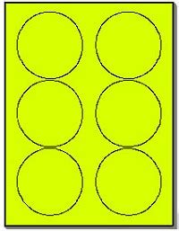 neon labels   fluorescent yellow