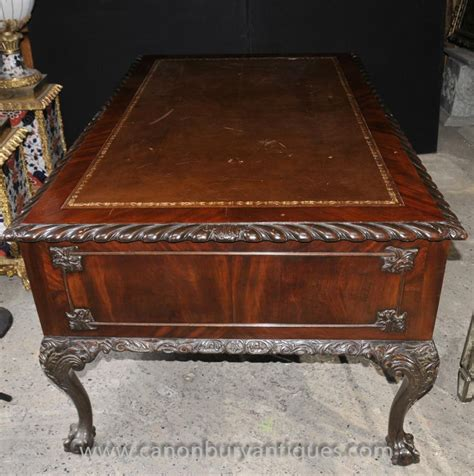 table bureau antique chippendale mahogany writing desk table bureau 1920