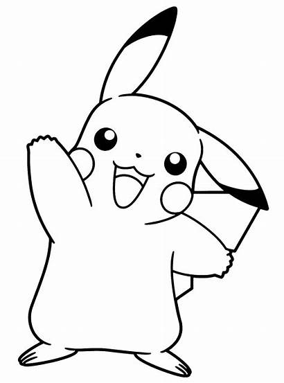Pokemon Ausmalbilder Coloring Pikachu Printable Kleurplaten Clipart