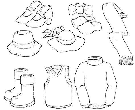 coloring page  winter clothes coloring home
