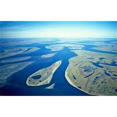 Lena Delta Wildlife Reserve the River far
