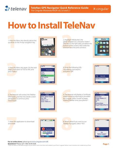 telenav gps navigator  lite quick start guide